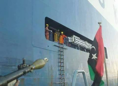 Car Carrier Boarded and Impounded by Militants in Libya - Now Released - #marsec #maritime #security