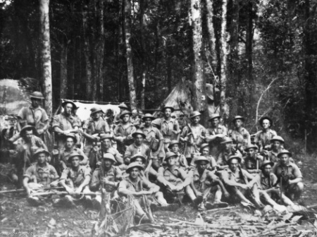 9_platoon_2-14Bn_16Aug42-Kokoda Trail-Breakfast at Babs
