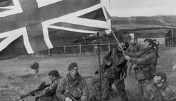 40 Cdo Accept the Surrender at Port Howard and Mine Clearance