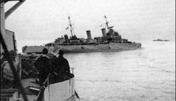 HMS Nigeria Torpedoed