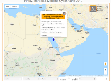 MSCIAdvisory - 2019-014- Violence Due to Regional Conflict and Piracy #marsec #cyber