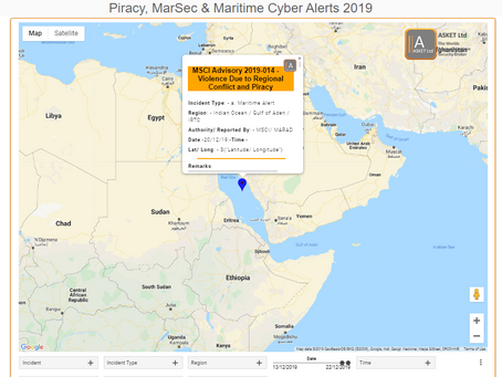 MSCI Advisory - 2019-014- Violence Due to Regional Conflict and Piracy #marsec #cyber