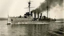 HMS NATAL Sunk by Internal Explosion - 63 Royal Marines Lost