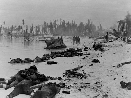 The U.S. Marines begin their assault on 'Bloody Tarawa' - 20th November 1943 @USMC