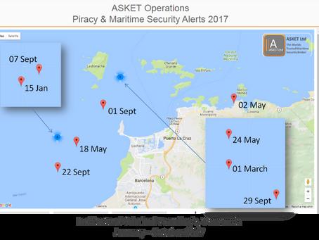 Incidents of Criminal Boarding's off Venezuela 2017 #marsec #piracy @IMOHQ @IMB_Piracy
