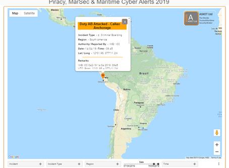 IMB ICC - Duty AB Attacked, Callao Anchorage - Peru @IMB_Piracy  #piracy #marsec