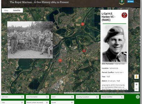 L/Cpl HE Harden VC (RAMC) - attached to 45 (Royal Marine) Commando - 23rd January 1945 - Netherlands