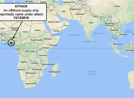 NYA Weekly #Piracy Maritime Security and Armed Robbery Chart #marsec