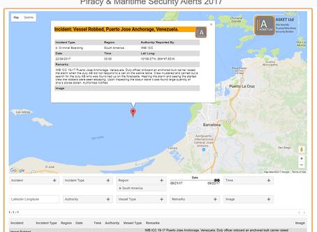 Robbery  Puerto Jose Anchorage, Venezuela. #marsec #piracy @IMB_Piracy @IMOHQ @recaapisc #IMB #IMO