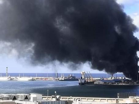 Libyan National Army Shells Terminal at Port of Tripoli - Ships Evacuated