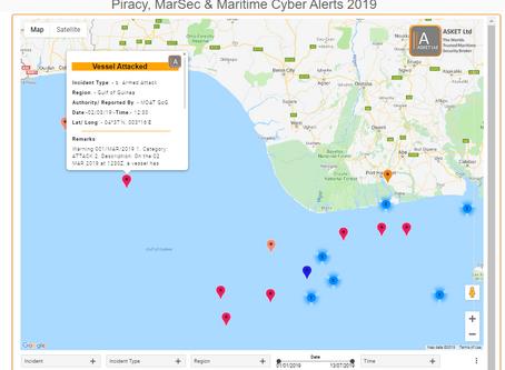 MDAT GoG - MV Attacked by 2 Skiffs - #piracy #marsec