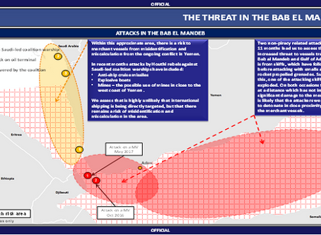 UKMTO - UK DfT Notice - Bab El Mandeb (BeM) and associated waters #piracy #terrorism