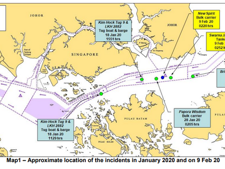 ReCAAP ISC Incident Alert - Incidents involving ships while underway in the eastbound lane of Singap