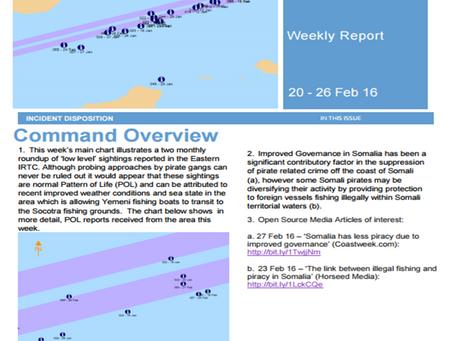 UKMTO Weekly Piracy Report 26 Feb 2016