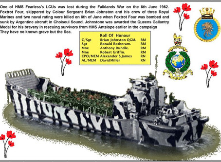 The Loss of Royal Marines Landing Craft -  LCU F4 - Falklands 8th June 1982