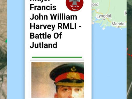 Major Francis Harvey RMLI - Battle Of Jutland