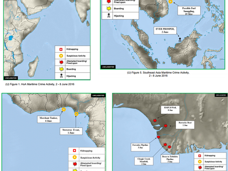 Office of Naval Intelligence (ONI) Weekly Piracy Report - Horn of Africa/ Gulf of Guinea/ SE Asia