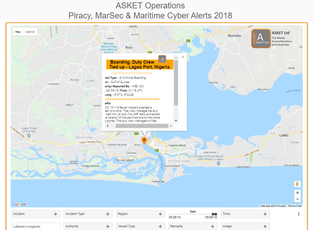 IMB ICC - Boarding, Duty Crew Tied up - Lagos Port, Nigeria. #marsec #piracy