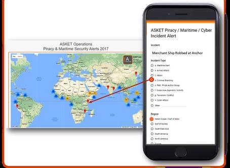 ASKET Piracy, MarSec & Maritime Cyber Alerts 2017 @ASKET_Broker @ASKETOperations #MarSec #cybers