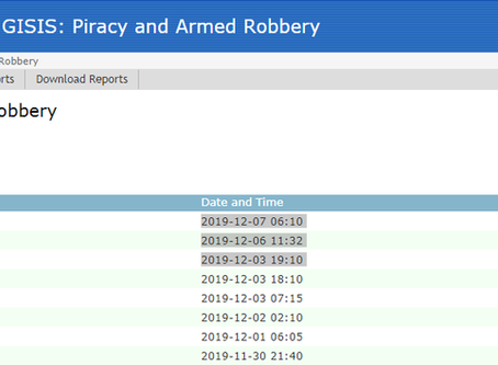 IMO GISIS: Piracy and Armed Robbery Report - #marsec #piracy