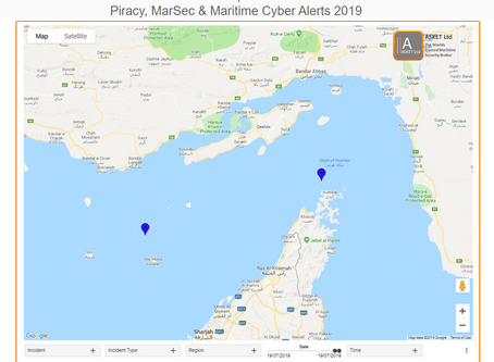 UKMTO ADVISORY NOTICE - 2 Incidents in the Arabian Gulf - Strait of Hormuz