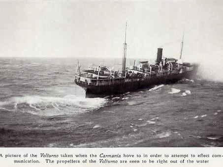 SS Volturno on Fire, North Atlantic October 1913 #OTD #MaritimeHistory