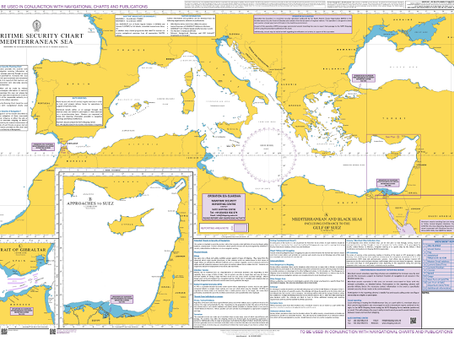 Update to British Admiralty Chart Q6110 - Mediterranean Sea Maritime Security Chart #marsec