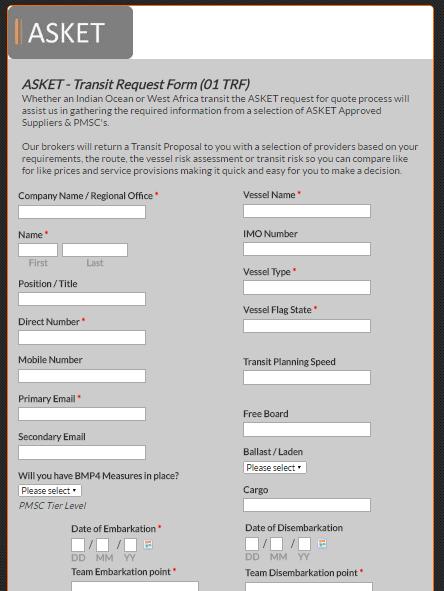ASKET Ltd-PMSC-HRA-West Africa-Transit Request Form