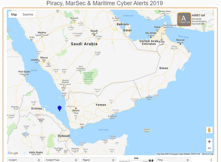MSCI Advisory - 2019-005A-Southern Red Sea-Threat of Vessel Attack #marsec #terrorism