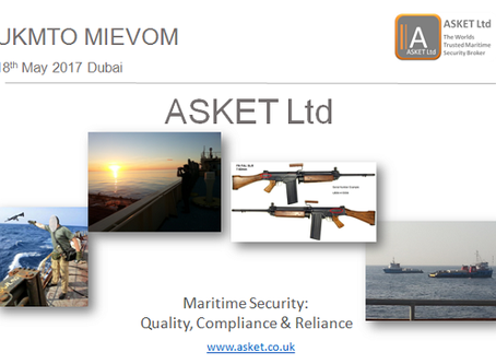#UKMTO MIEVOM - Maritime Security: Quality, Compliance & Reliance