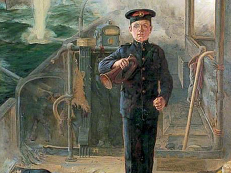 Bugler CE Timmins, 14, Youngest Marine Killed in WW1