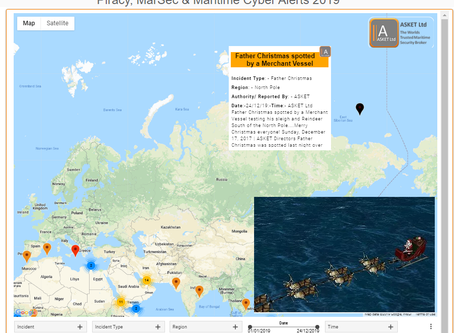 Father Christmas is on his way! Spotted by a Merchant Ship heading South West! @Asket-Broker @AsketO