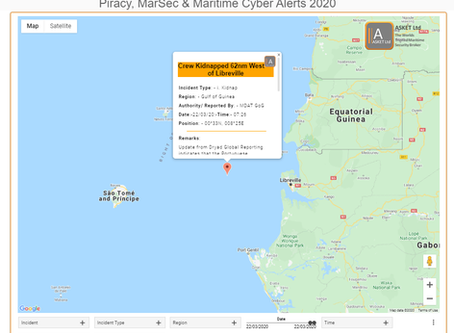 MDAT GoG - Crew Kidnapped 62nm West of Libreville #piracy