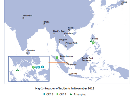 ReCAAP ISC Monthly Report - November 2019 #piracy #marsec @ReCAAPISC