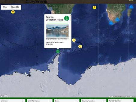 Raid on Deception Island. Antarctica