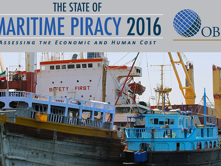 Oceans Beyond Piracy - The State of Maritime Piracy 2016 #marsec #piracy