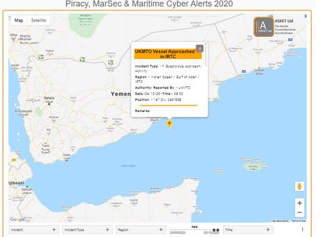 UKMTO Advisory - MV Approached in IRTC