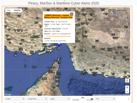 UKMTO Advisory - Iranian Military Exercise - Arabian Gulf
