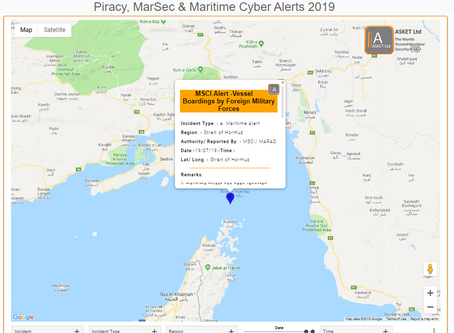 MSCI Alert - 2019-004A-Strait of Hormuz-Vessel Boardings by Foreign Military Forces #marsec #terrori