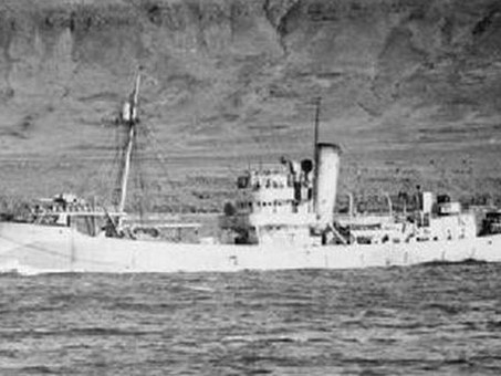 Leo Gradwell DSC RNVR against orders, led three merchant ships from the disaster of Convoy PQ 17 int