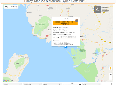 MDAT GoG - Vessel Hijacked Douala Anchorage Cameroon - crew members taken #piracy #marsec