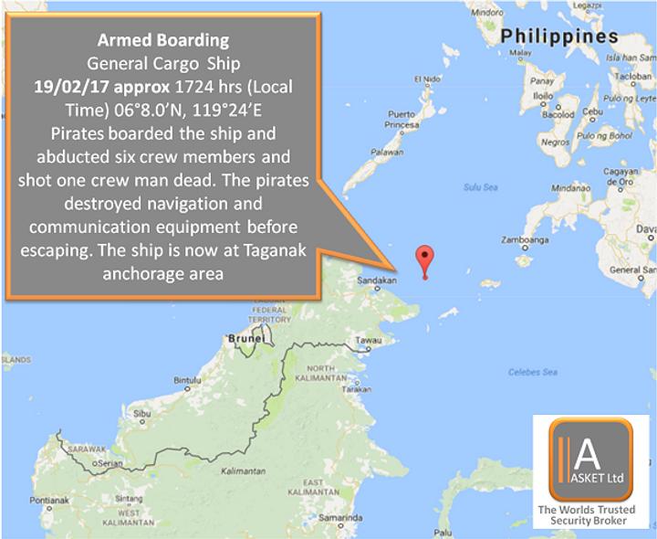 ReCAAP Incident Alert - Abduction of Crew- Sulu Sea #marsec #piracy #SEAS