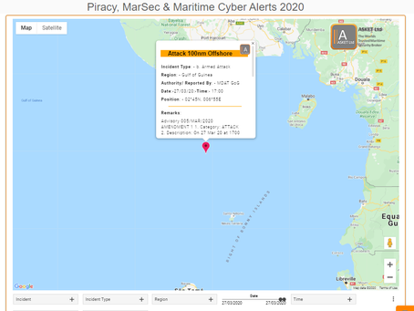 MDAT GoG - MV Attacked 100nm Offshore #piracy