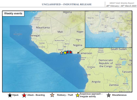 MDAT GoG (West Africa) Weekly Piracy Report #marsec #piracy