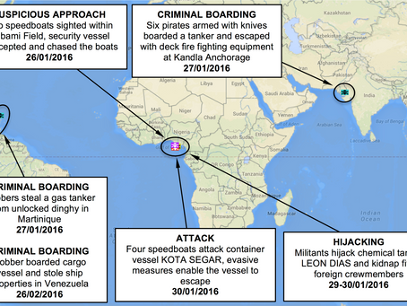 ASKET Maritime Piracy and Crime Weekly Update - 28th Jan - 4th Feb 2016