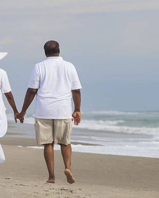 Couple at the Beach Walking hand in hand