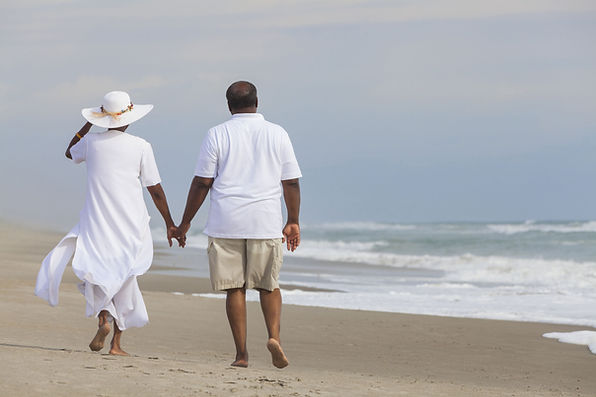 Paare am Strand
