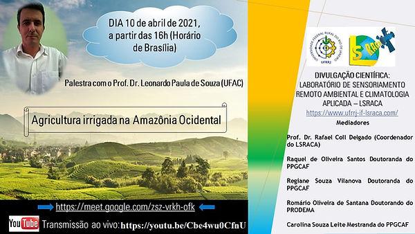 PALESTRA PROF. DR. Leonardo Paula de Sou