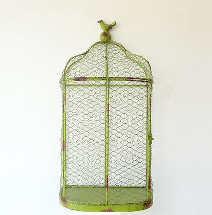 Cage décorative verte