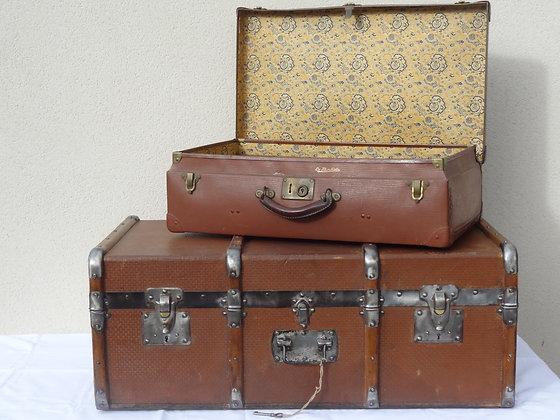 Lot 1 valise + 1 malle